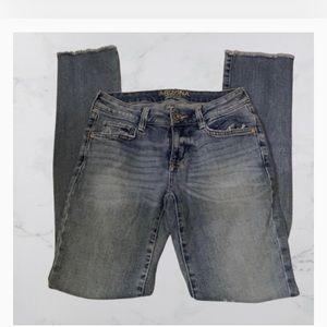 Arizona Jean Company Fringe Jeans
